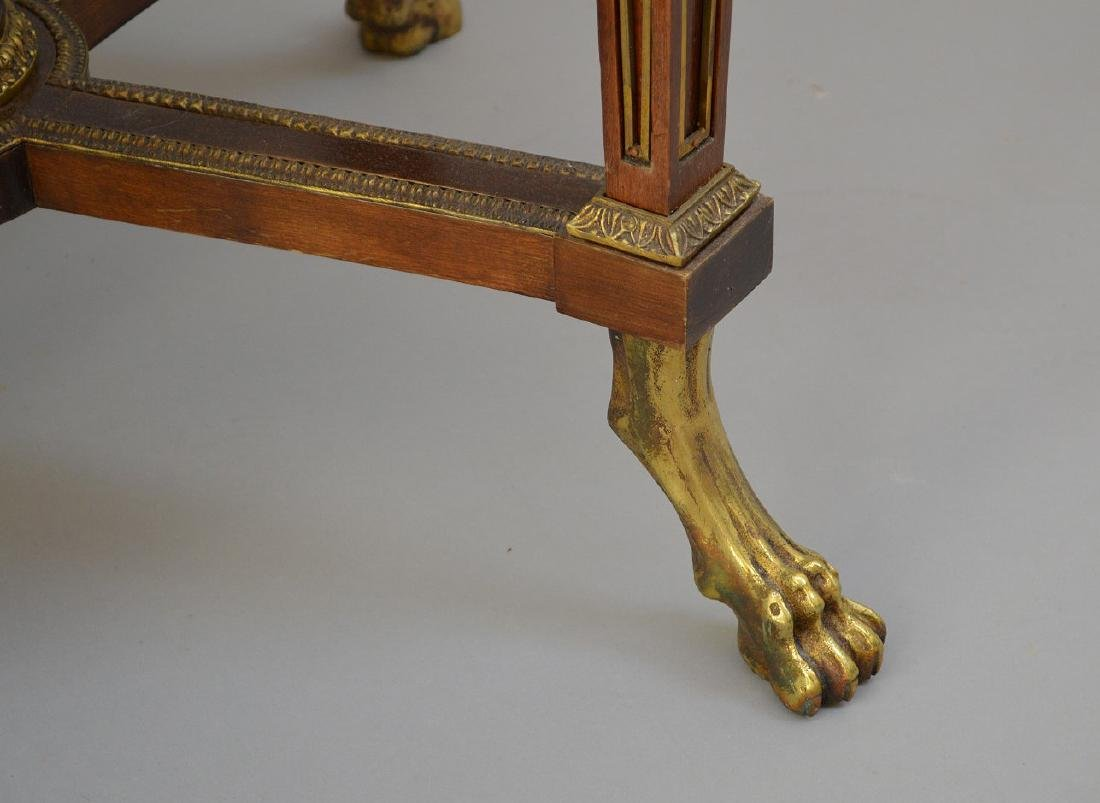 Pair Round French tables with gilt metal accents and - 7