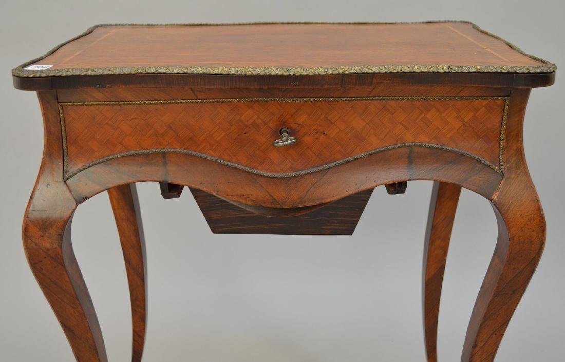 "French parquetry ladies dressing table, 28 1/2""h x 24""w - 2"