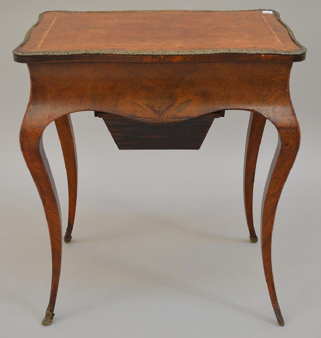 "French parquetry ladies dressing table, 28 1/2""h x 24""w - 8"