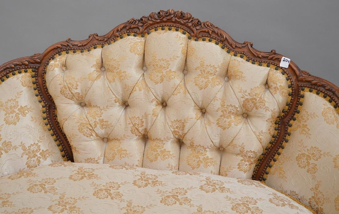"""French carved walnut framed settee, 37""""h x 51""""w x 30""""d - 6"""