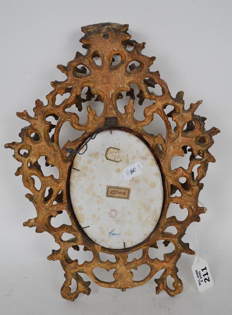 19th c. German porcelain hand painted portrait plaque - 6