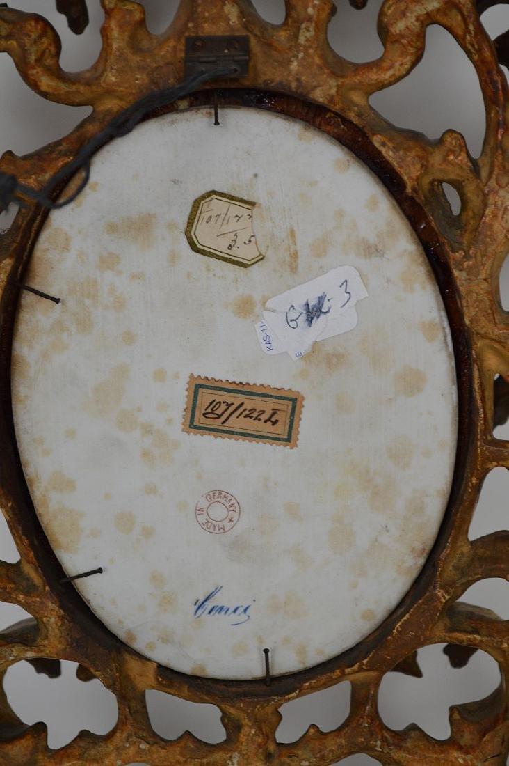 19th c. German porcelain hand painted portrait plaque - 7