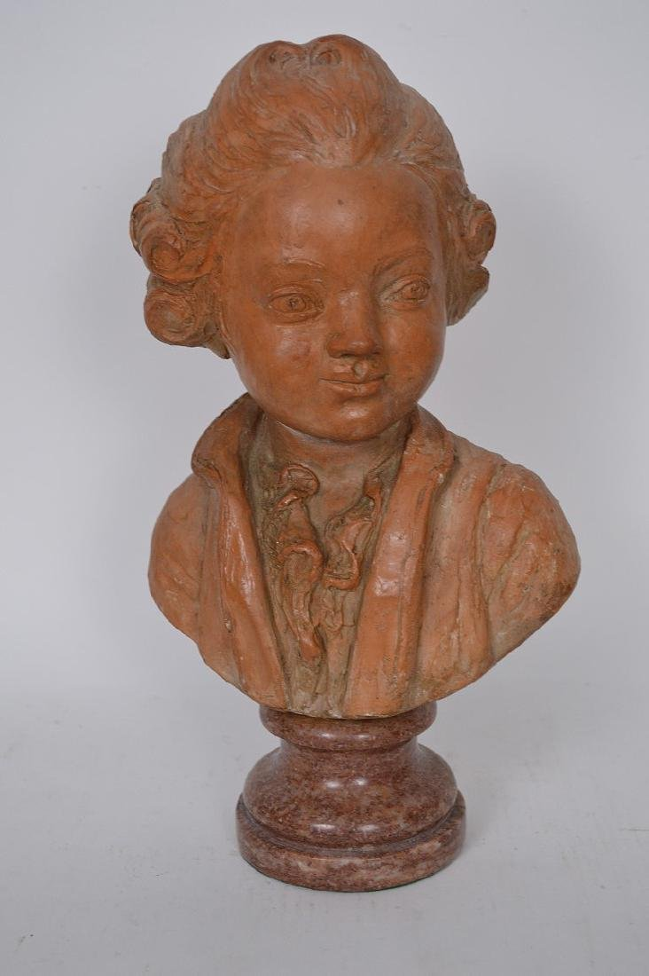 Terracotta Bust of young Beethoven by C. Gir, Paris, 14