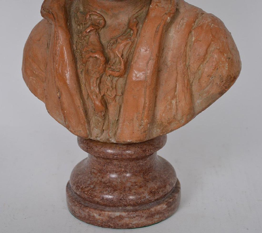 Terracotta Bust of young Beethoven by C. Gir, Paris, 14 - 3