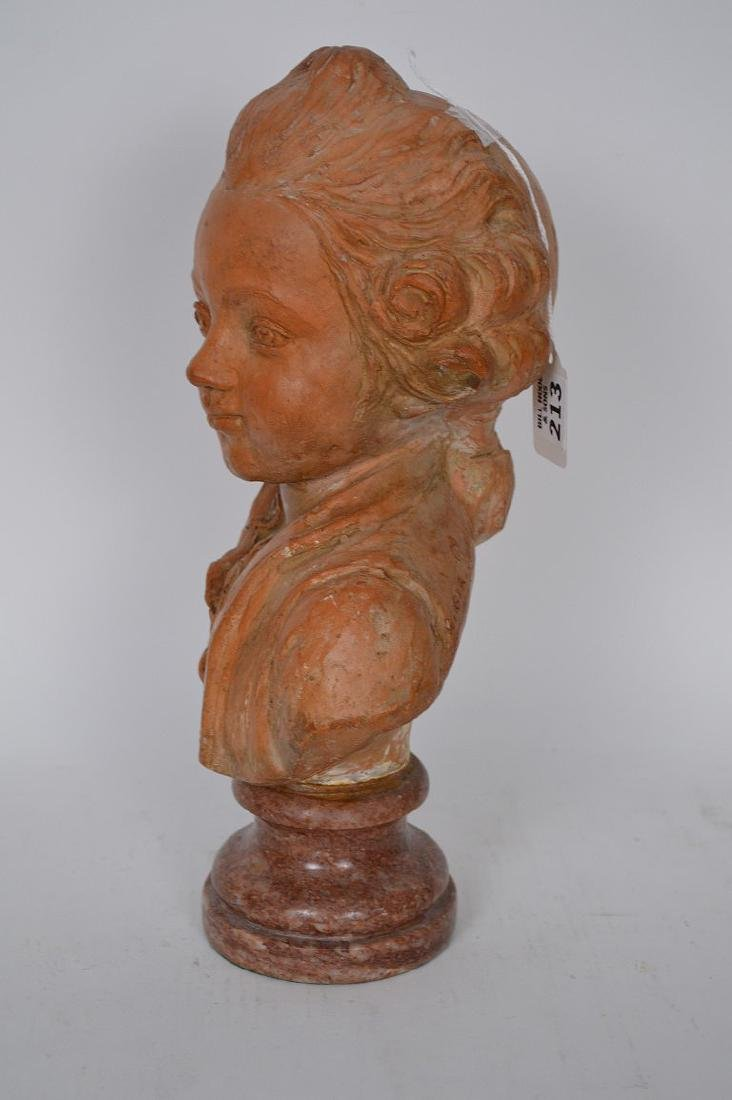 Terracotta Bust of young Beethoven by C. Gir, Paris, 14 - 4