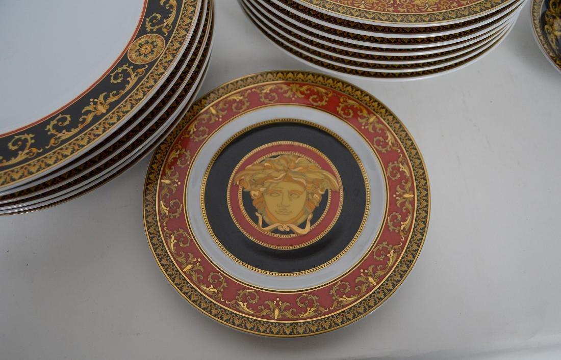 15 PIECE VERSACE MEDUSA PORCELAIN.  6 Dinner Plates - 2