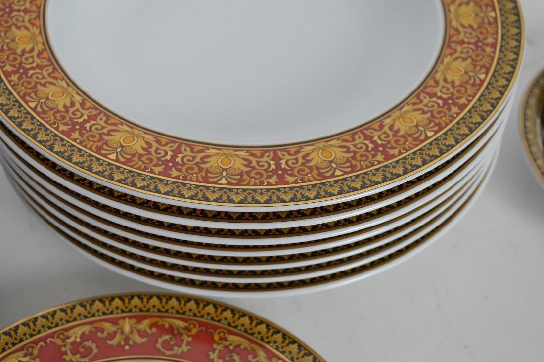 15 PIECE VERSACE MEDUSA PORCELAIN.  6 Dinner Plates - 4