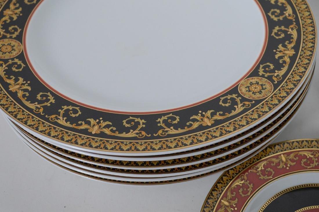 15 PIECE VERSACE MEDUSA PORCELAIN.  6 Dinner Plates - 5
