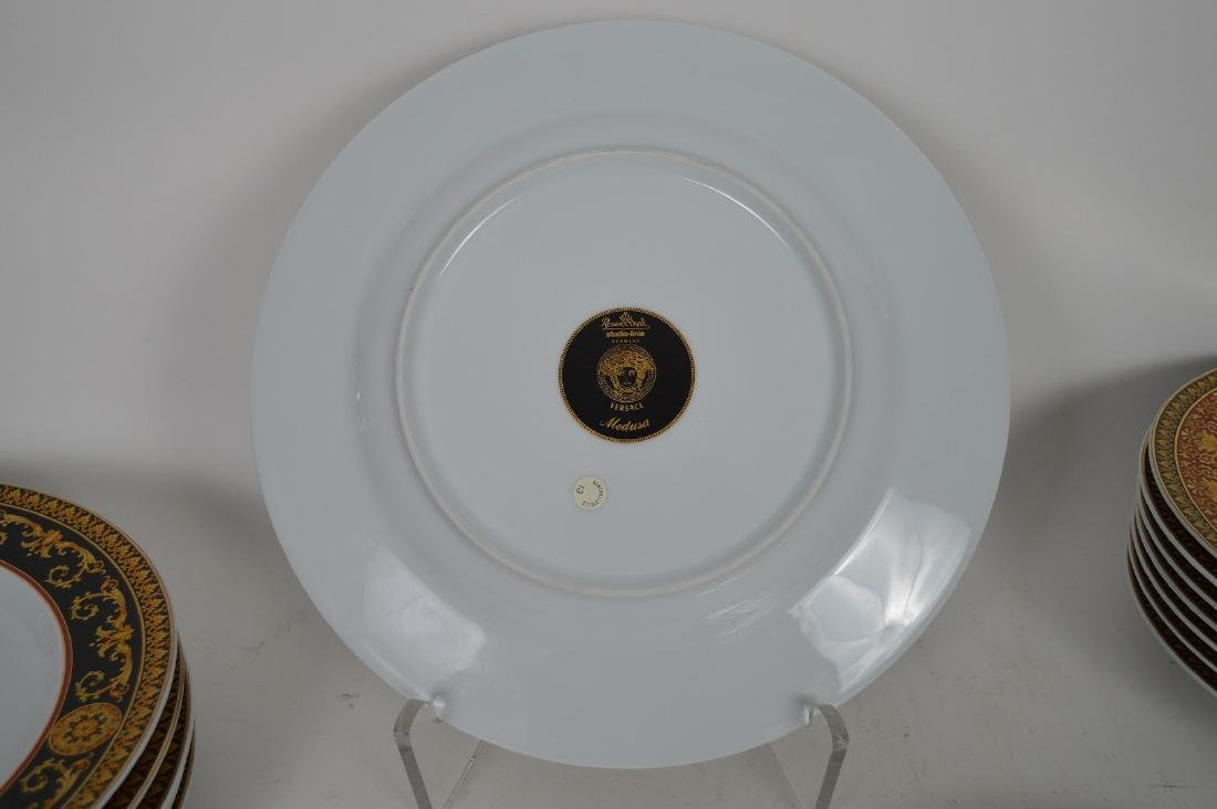 15 PIECE VERSACE MEDUSA PORCELAIN.  6 Dinner Plates - 9