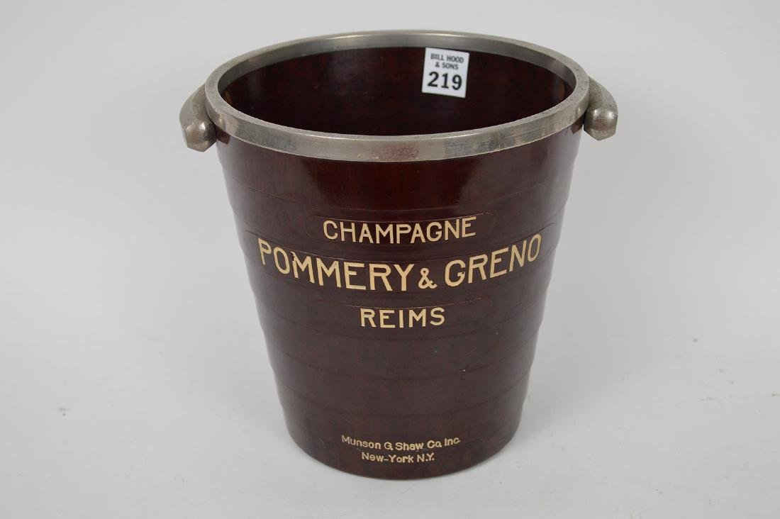 French bakelite Champagne bucket, Pommery Greno -