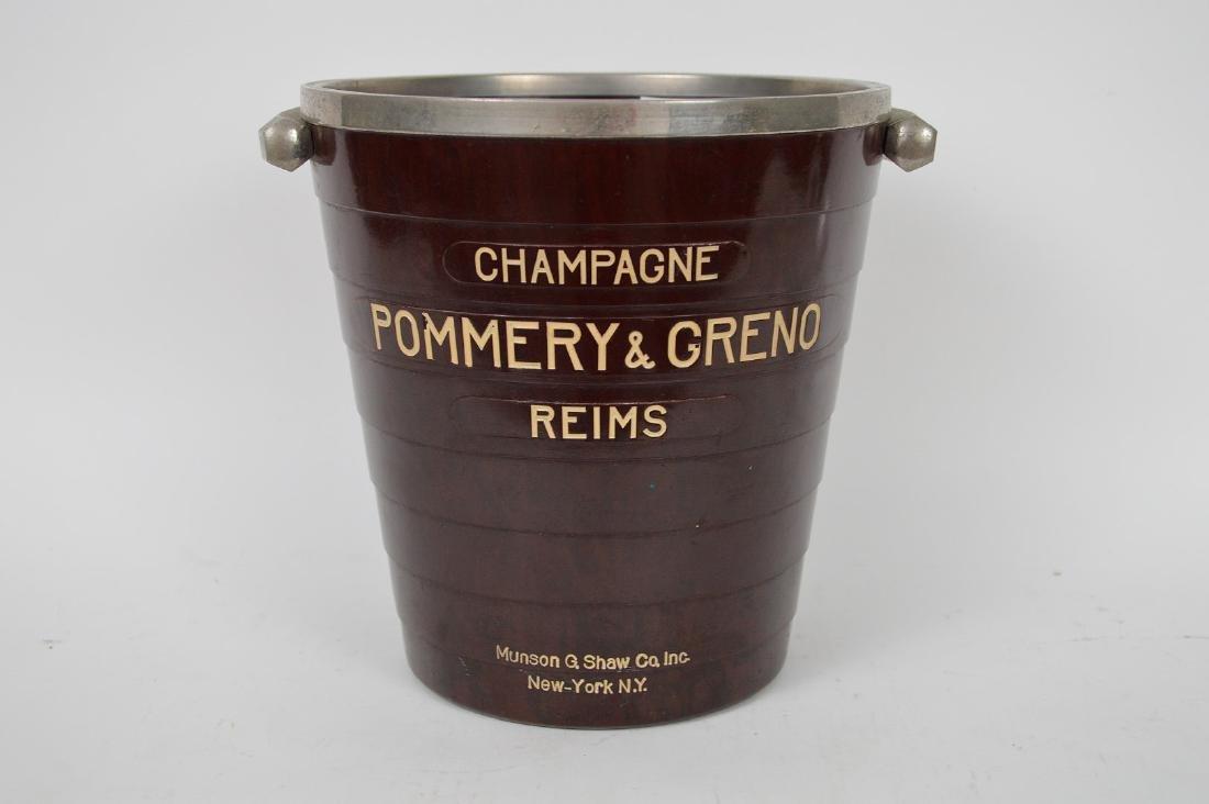 French bakelite Champagne bucket, Pommery Greno - - 2