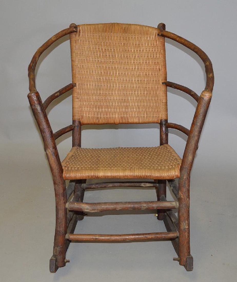Hickory Rocker with splint woven back & seat - 2