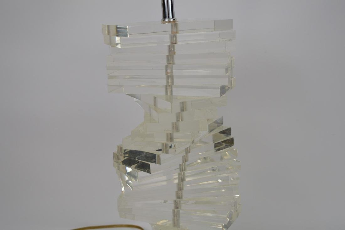 """Stacked Lucite lamp, 22""""h - 2"""