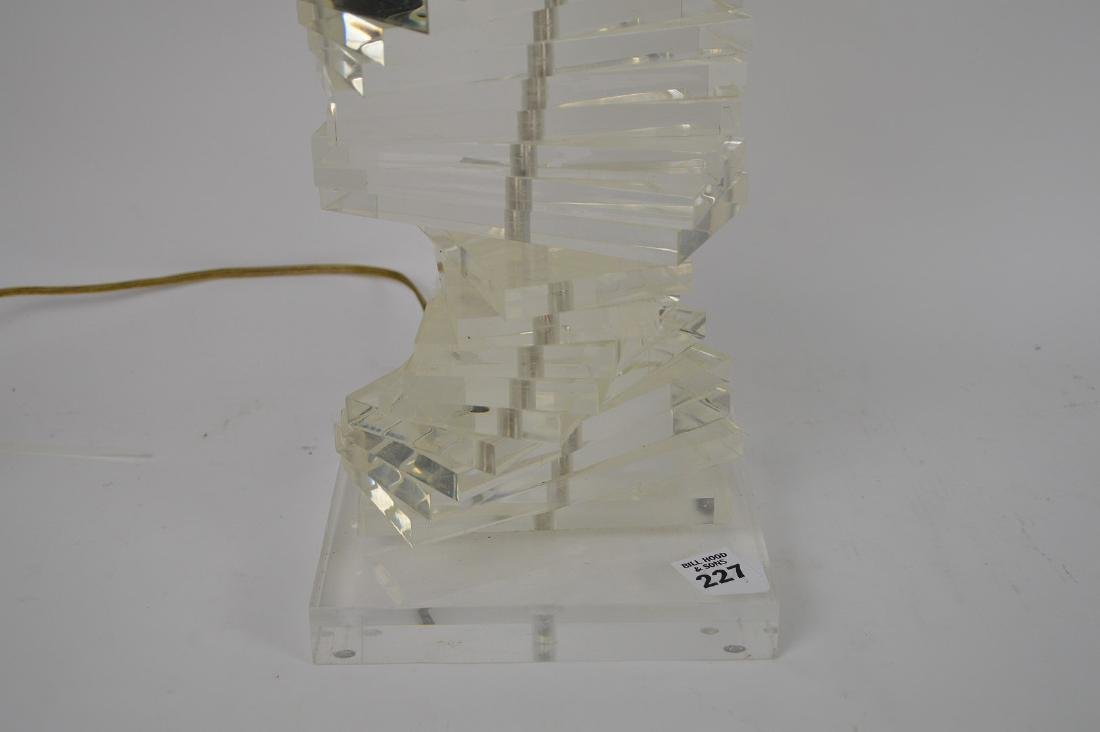 """Stacked Lucite lamp, 22""""h - 3"""