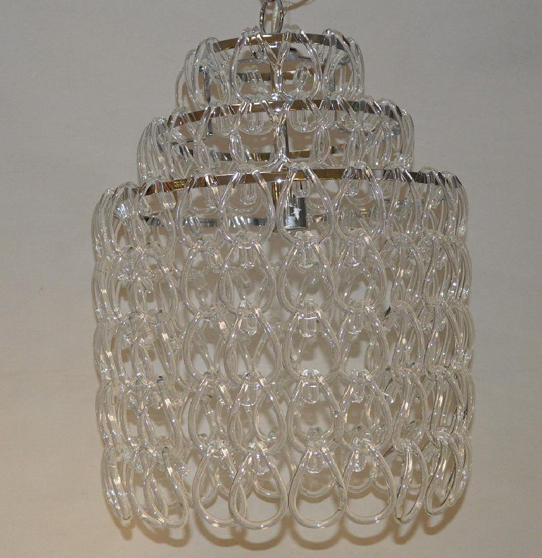 Modern crystal chandelier, chrome with series of