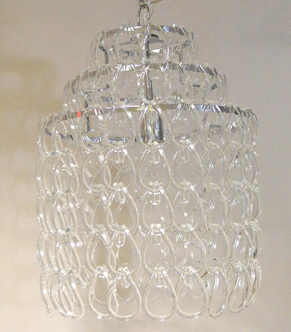 Modern crystal chandelier, chrome with series of - 4