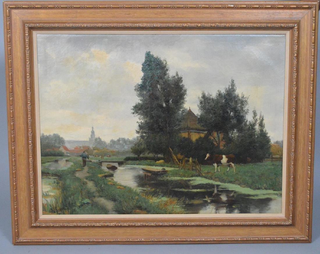 Hendrik Savry (DUTCH, 1823–1907) oil on canvas, Cattle