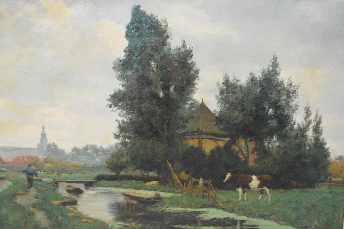 Hendrik Savry (DUTCH, 1823–1907) oil on canvas, Cattle - 2