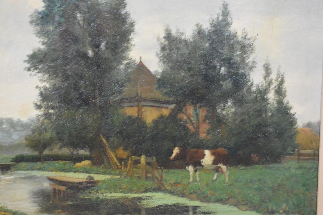 Hendrik Savry (DUTCH, 1823–1907) oil on canvas, Cattle - 3
