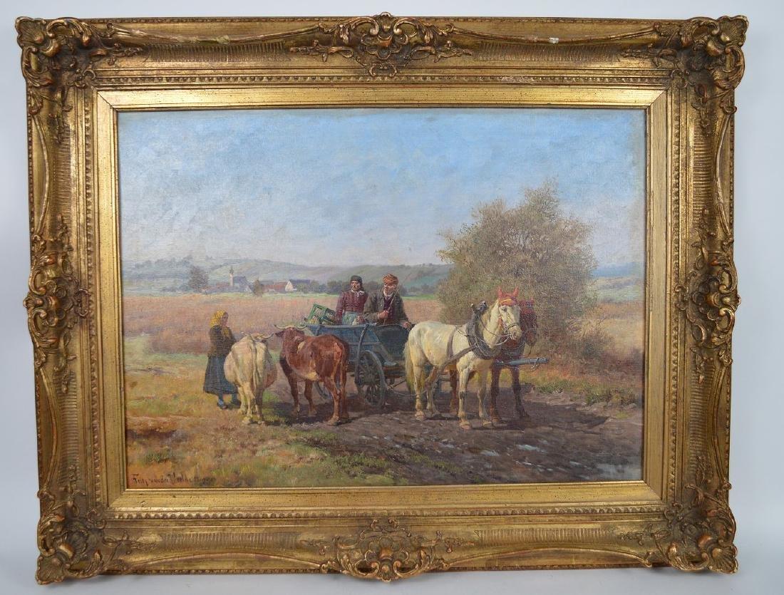 Fritz van der Venne (GERMAN, 1860–1960) Farmers on the
