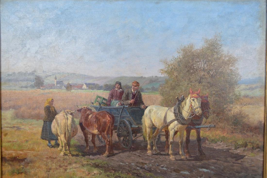 Fritz van der Venne (GERMAN, 1860–1960) Farmers on the - 2