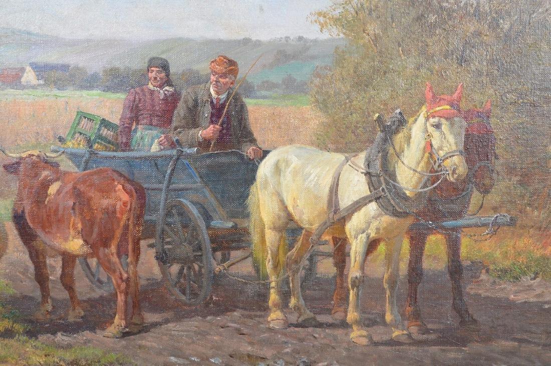 Fritz van der Venne (GERMAN, 1860–1960) Farmers on the - 3