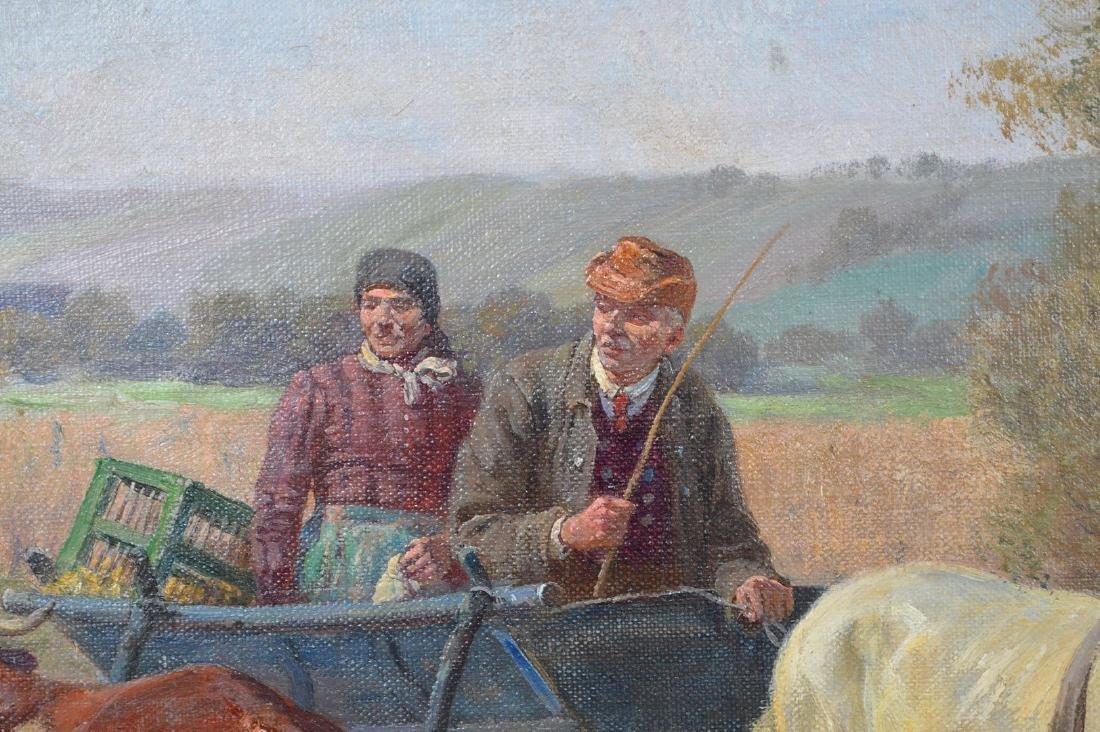 Fritz van der Venne (GERMAN, 1860–1960) Farmers on the - 5