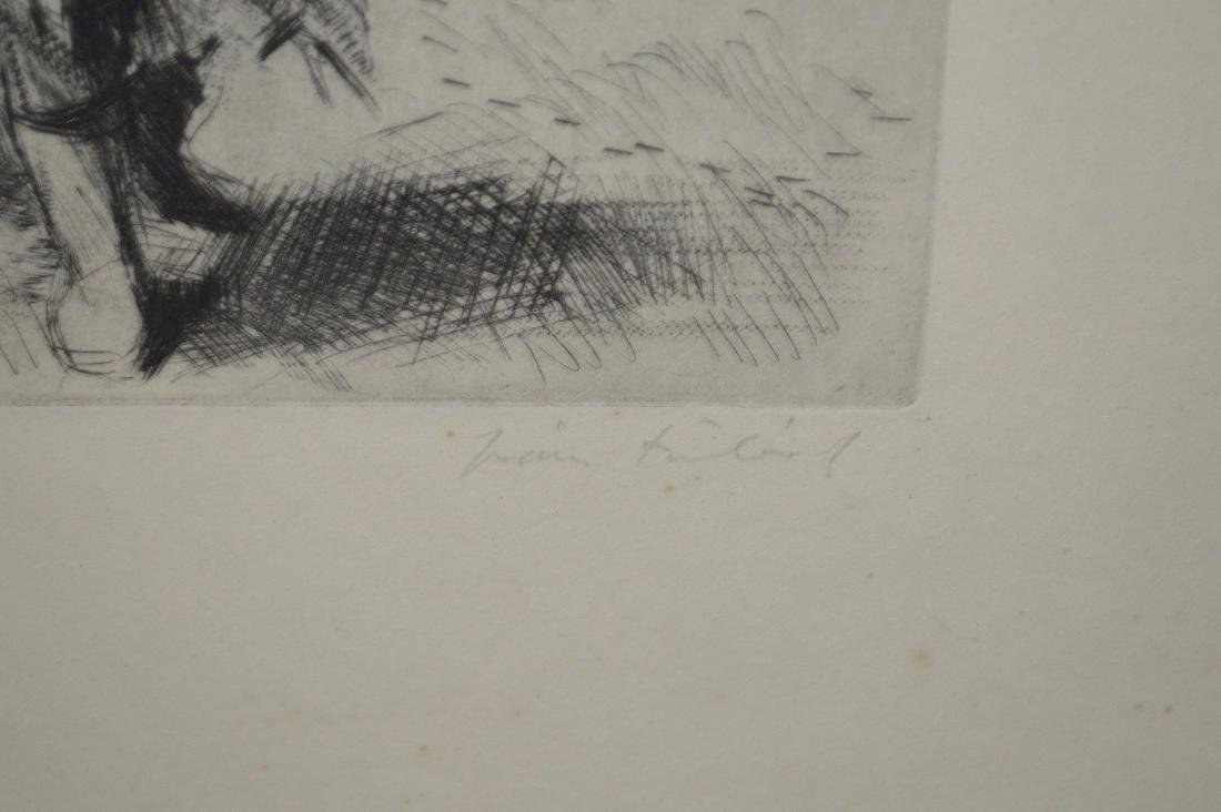 Fine Etching of Woman Working the Field. Signed LR and - 4