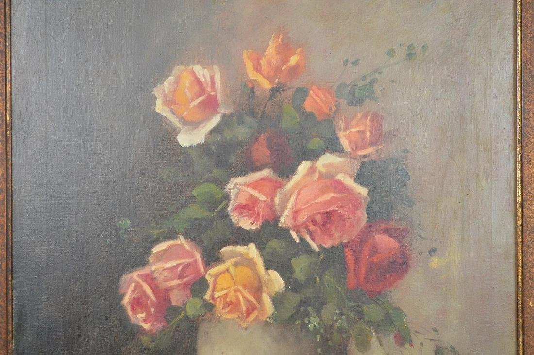 Heyliggers Still life Flowers, oil on canvas, 23 x 19 - 2