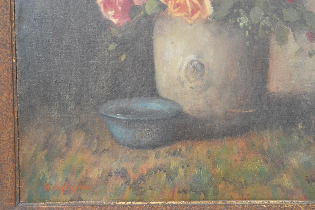 Heyliggers Still life Flowers, oil on canvas, 23 x 19 - 3