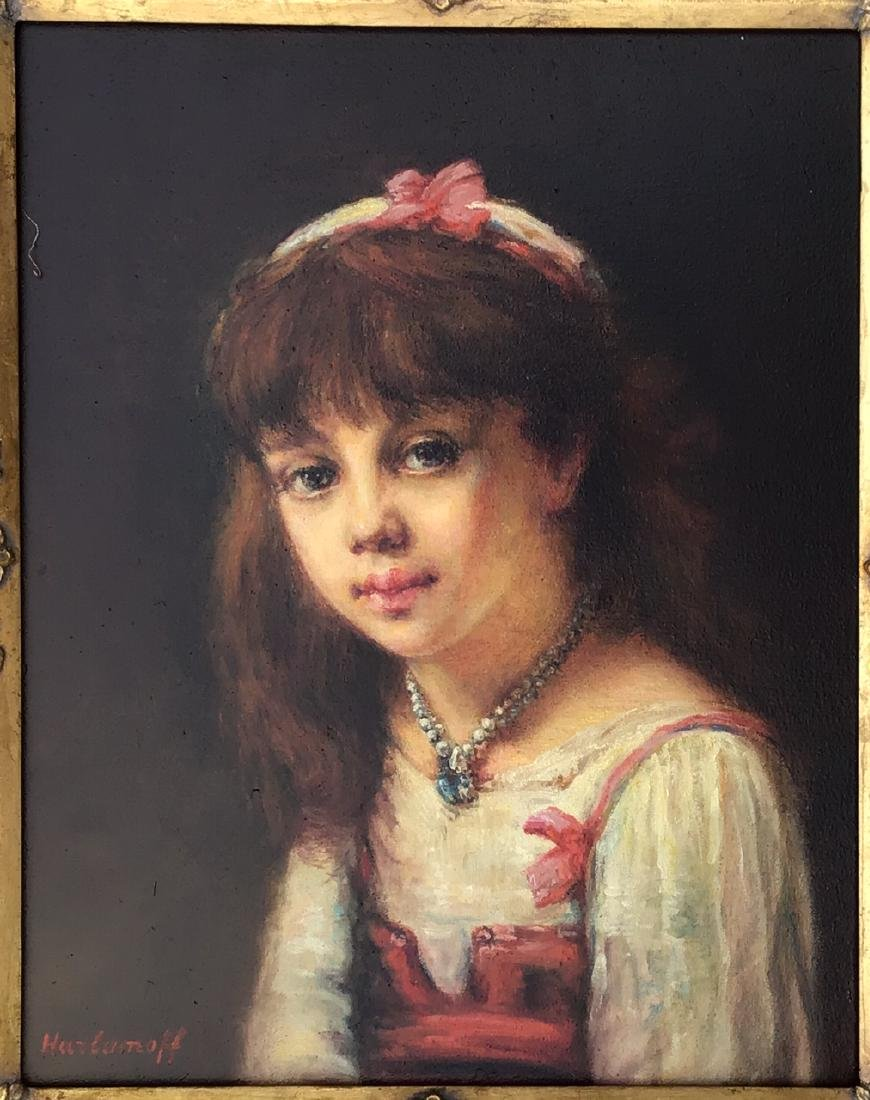Attributed to: Alexej Alexejewitsch Harlamoff (RUSSIAN, - 2