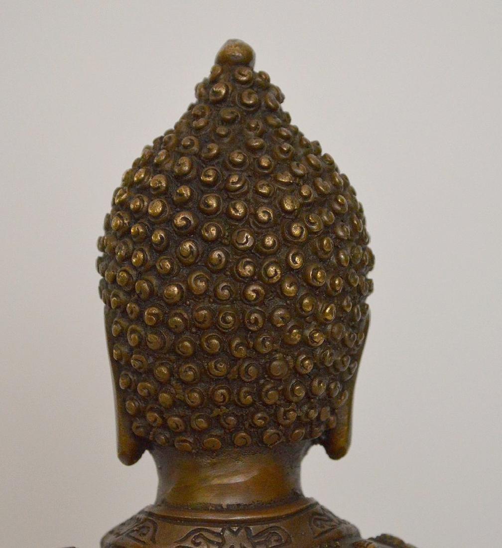 """Bronze buddha, 11""""h - 10"""
