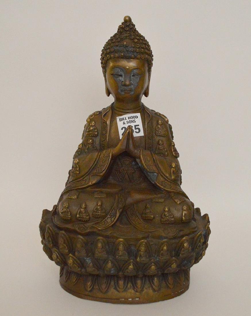 """Bronze buddha, 11""""h"""