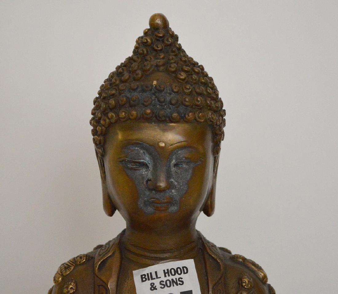 """Bronze buddha, 11""""h - 2"""