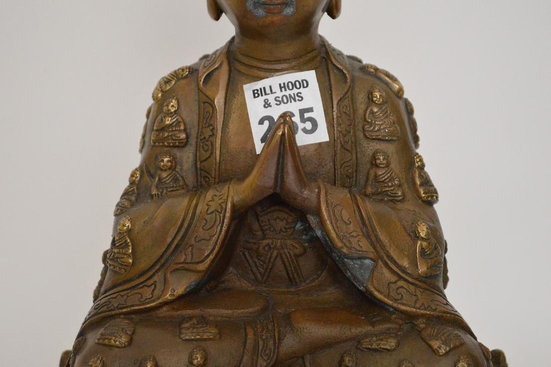 """Bronze buddha, 11""""h - 3"""