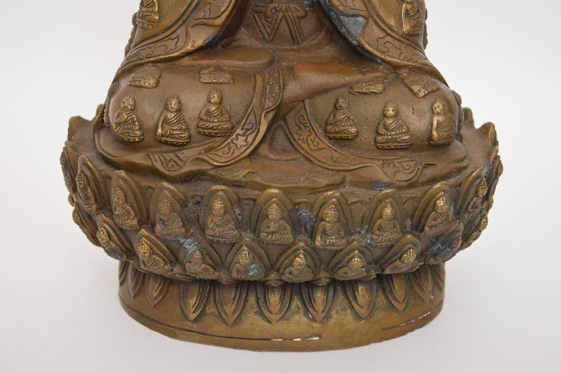 """Bronze buddha, 11""""h - 4"""