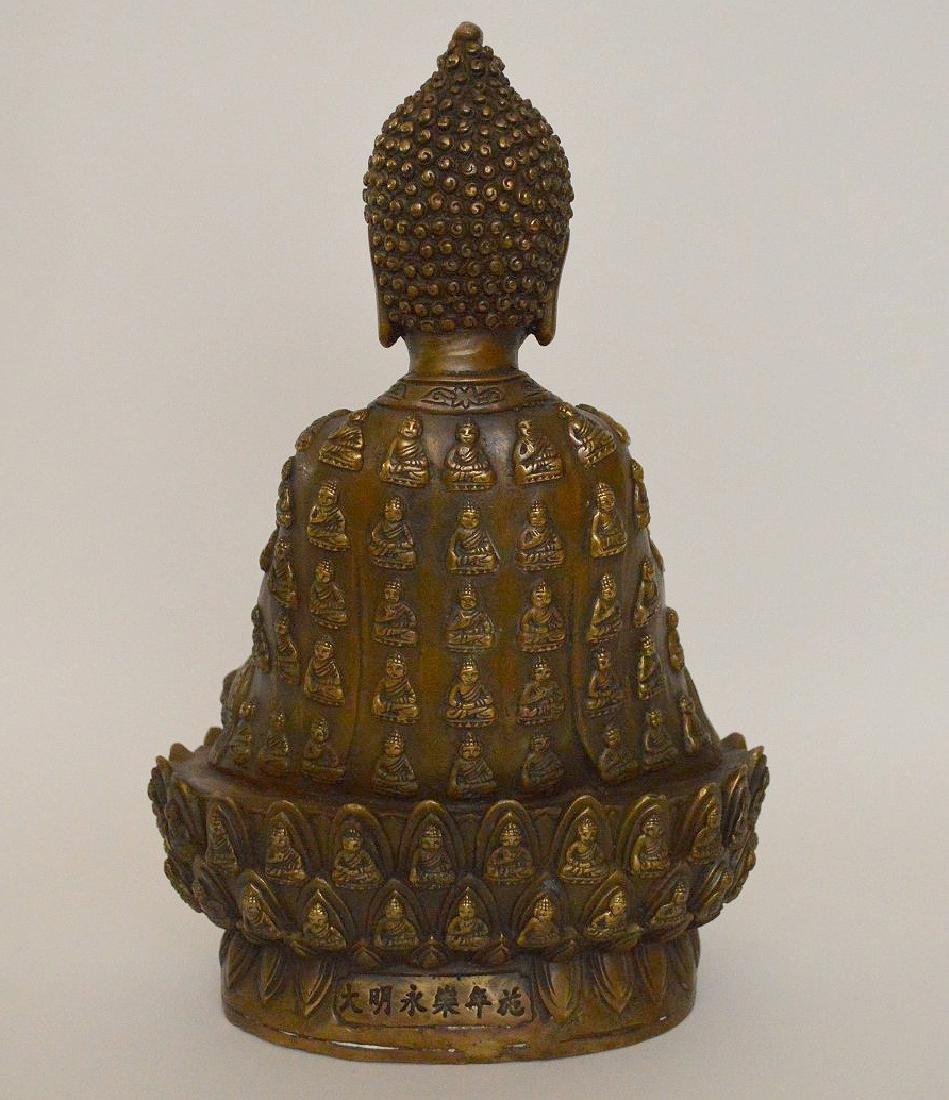 """Bronze buddha, 11""""h - 6"""