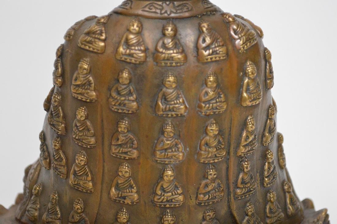 """Bronze buddha, 11""""h - 9"""