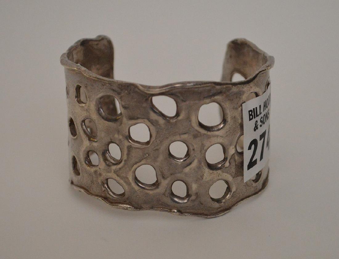 Sterling cuff bracelet by Apianna, 3 ozt