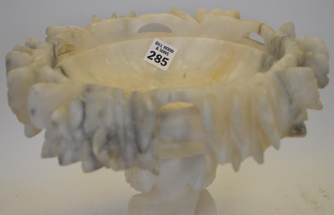"Marble 19th c. pedestal bowl, 9""h x 10 1/2""w - 2"