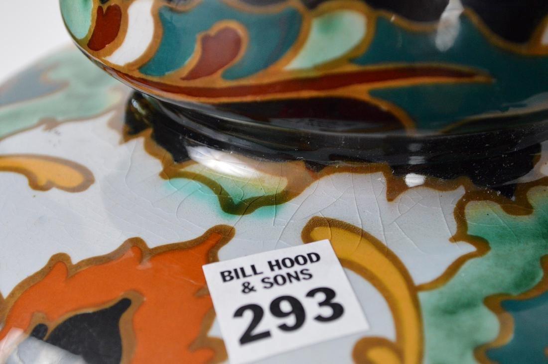 """Glazed Gouda pottery Holland, jardinière, 13""""h x 10""""w - 5"""