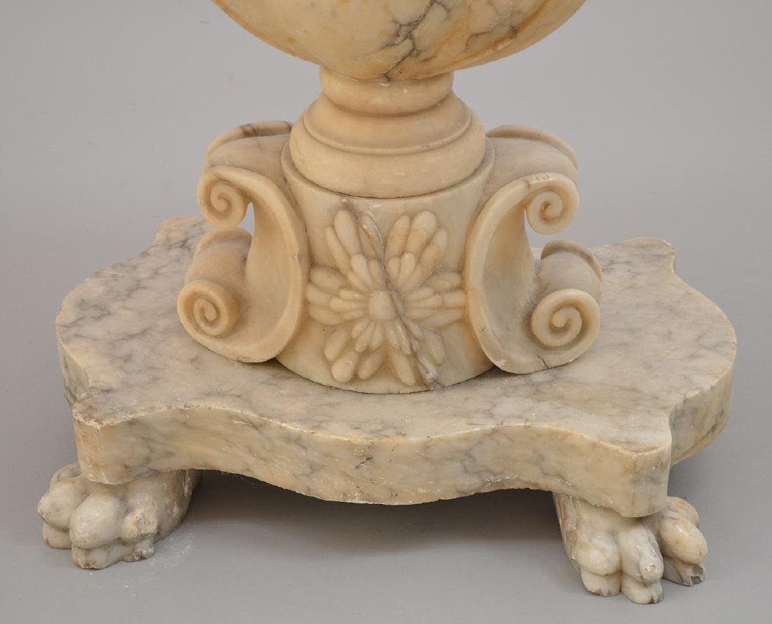 19th c. marble occasional table, urn form pedestal on 4 - 3