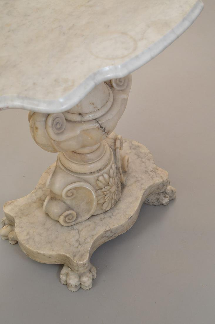 19th c. marble occasional table, urn form pedestal on 4 - 5