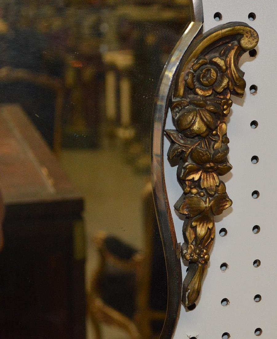2 mirrors, swag motif with porcelain plaques at top of - 4