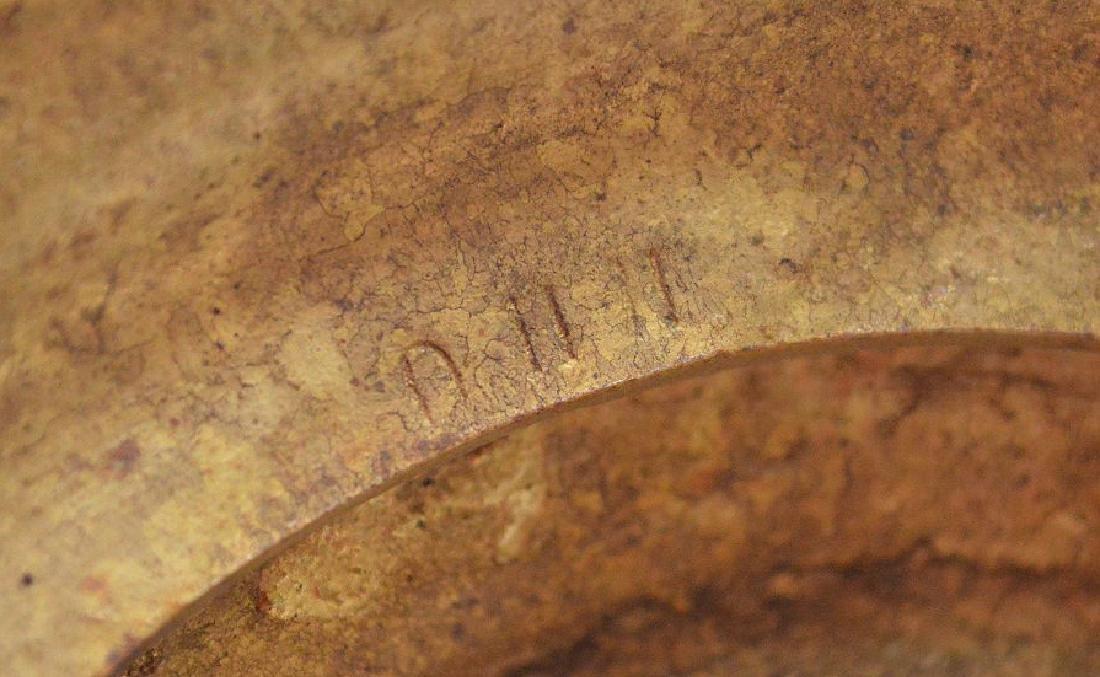 "Heavy bronze urn form lamp, 18""h - 10"