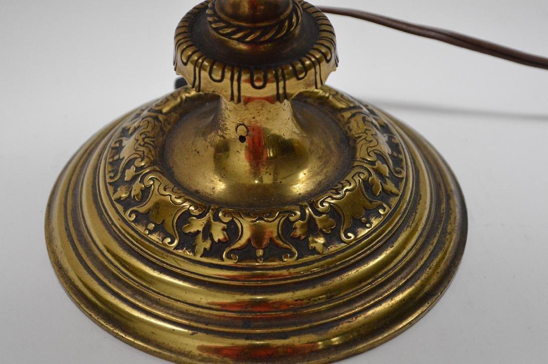 "Heavy bronze urn form lamp, 18""h - 5"