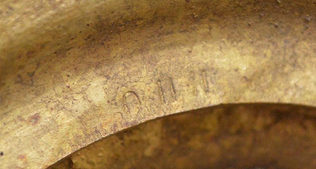 "Heavy bronze urn form lamp, 18""h - 9"