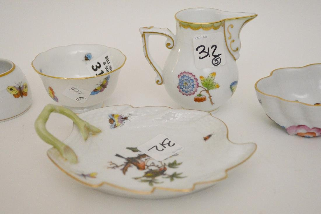 """5 Herend pieces, pitcher is 3""""h - 2"""