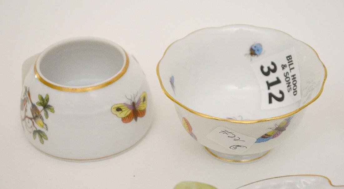 """5 Herend pieces, pitcher is 3""""h - 3"""