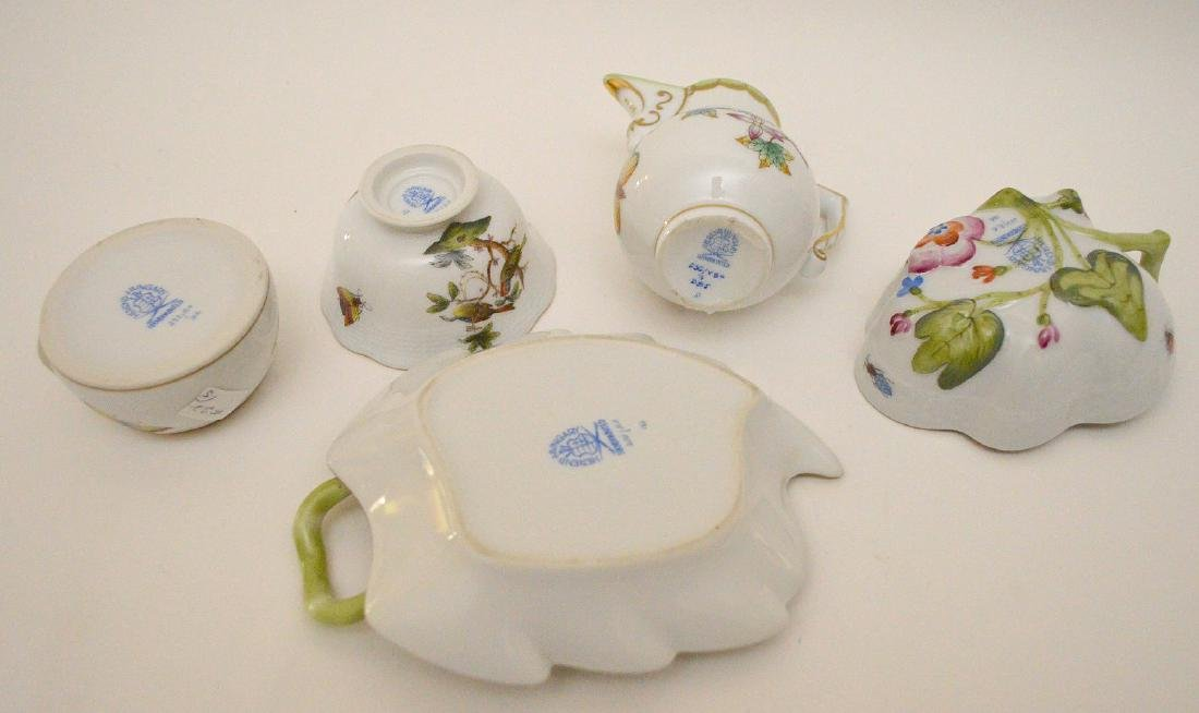 """5 Herend pieces, pitcher is 3""""h - 4"""